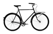 Creme Caferacer Solo Cityfiets Heren 7-speed zwart